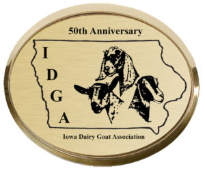 Iowa Dairy Goat Association 50th Anniversary logo